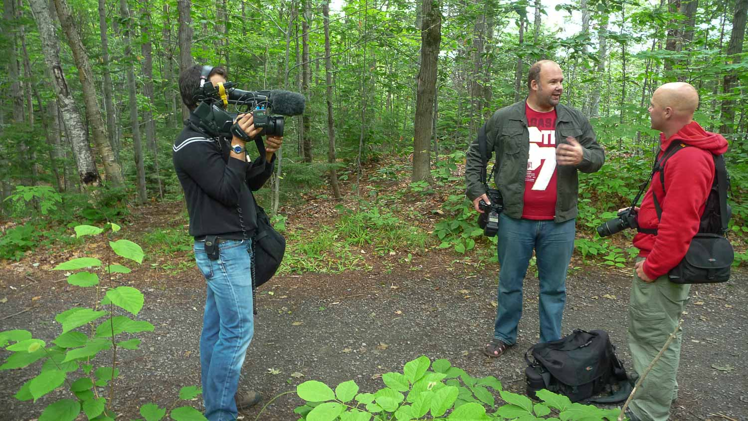 Forge Film production the great trails episode in the Mauricie region in Quebec