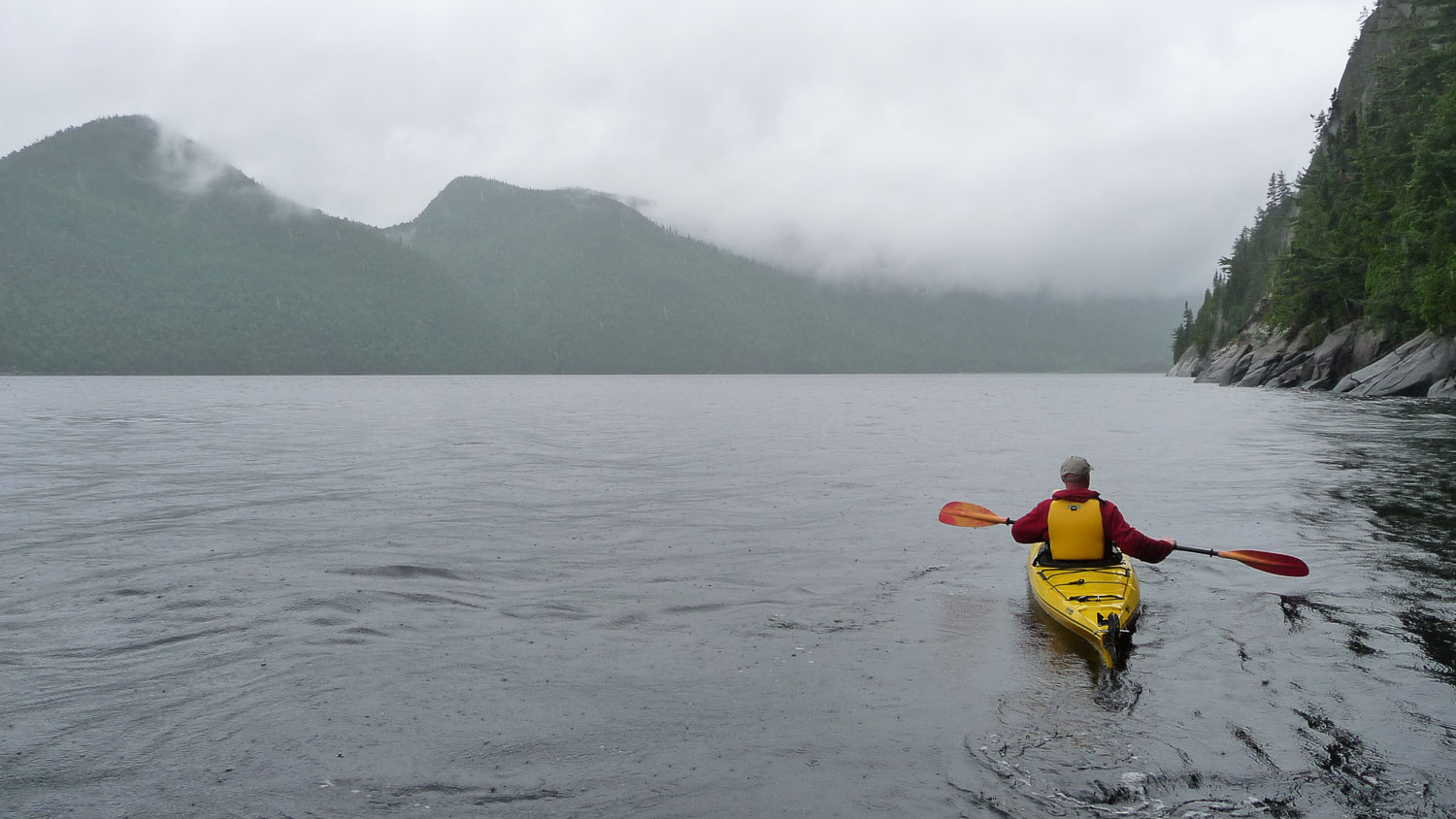 The great trails are also on the water, here at the St. Lawrence Marine Park in the Saguenay Fjord