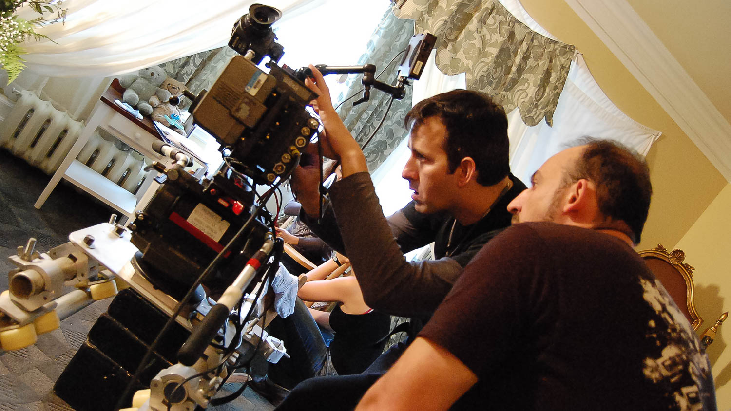 Serpent Lullaby and our director of photography Richard Duquette preping a scene with the director